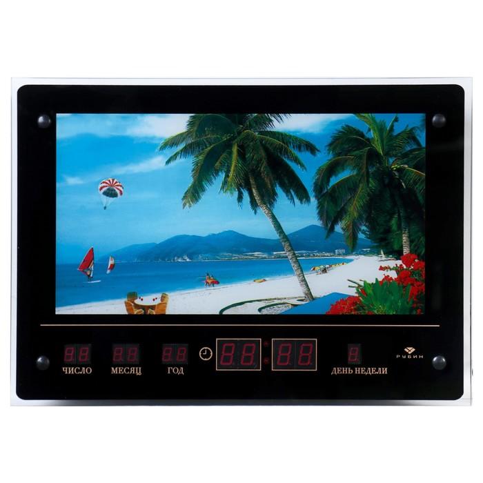 """Световая картина """"Пляжный отдых"""" с информационным календарём"""