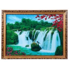 """Световая картина """"Дикая природа"""" со звуком пения птиц и водопада"""