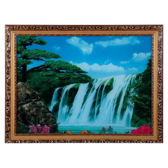 """Световая картина """"Большой водопад"""" со звуком пения птиц и водопада"""