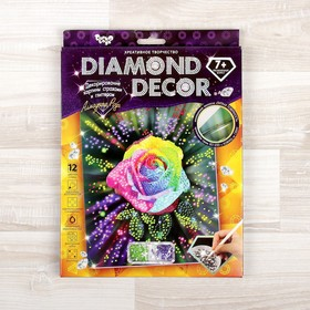 Набор для создания мозаики «Алмазная роза» DIAMOND DECOR, планшетка без рамки