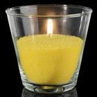 Свечной песок жёлтый 0,45кг + 3 фитиля