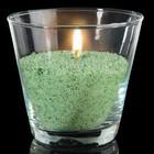 Свечной песок зелёный 0,45кг + 3 фитиля