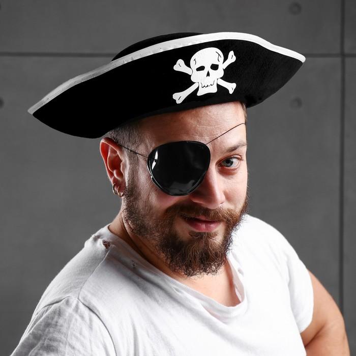 "Карнавальная шляпа ""Пират"", р-р 56-58"