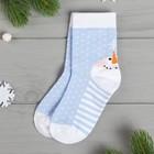 """Children's socks """"Snowman"""" 14-16 cm, 3-4, 80% CL.,17% p/e, 3% El."""
