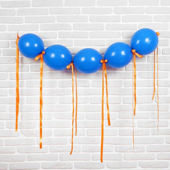 """Гирлянда из воздушных шаров """"Свечи"""", набор: 5 линколунов, лента, декор - фото 308469002"""