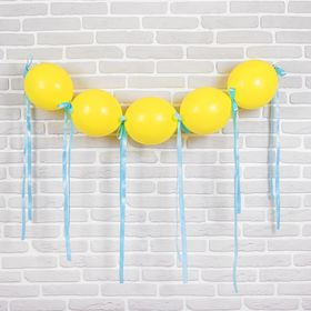 """Гирлянда из воздушных шаров """"Праздник"""", набор: 5 линколунов, лента, декор"""
