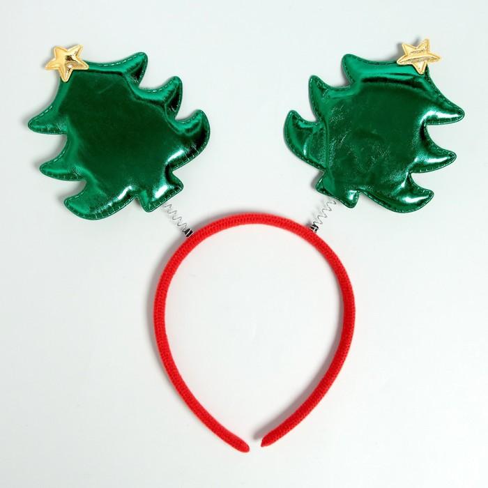 """Карнавальный ободок """"Ёлка"""" со звездой"""
