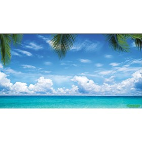 """Photo banner, 300 × 158 cm, with photo printing, """"Sea""""."""