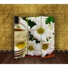 """Ширма """"Белые цветы"""" 150 × 160см"""