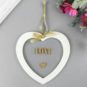 """Сувенир дерево """"Сердце. Love"""" 12х12х1 см"""
