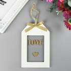 """Сувенир дерево """"Бирочка. Love"""" 14х9х1 см"""
