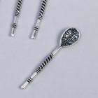 """Souvenir wallet metal """"Spoon flower"""" (29981) 5x1,1 cm"""