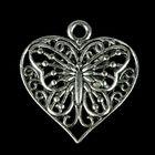 "Декор металл для творчества ""Бабочка в сердце"" (В71356) 2,2х2,2 см"
