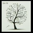 """Татуировка на тело """"Дерево"""" МИКС 6х6 см"""