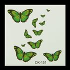 """Татуировка на тело """"Бабочки цветные"""" МИКС 6х6 см"""