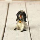 "Souvenir Polyresin ""Puppy in a collar with a bell"" MIX 4x3,3x2,3 cm"