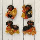 """Magnet Polyresin """"Dachshund with a Golden key"""" MIX 5,5x4,8 cm"""