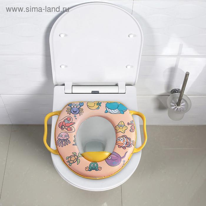 "Toilet seat with handles children's ""Animals"""