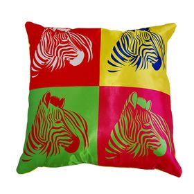 Pillow decorative interior Pop art 02, 40x40 cm, gabardine, plastic, removable cover
