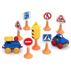 Набор 'Дорожные знаки' №3 светофор, 6 знаков, 2 машинки Ош