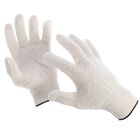 Gloves, cotton, knit, 10 class 5 threads, uncoated, white