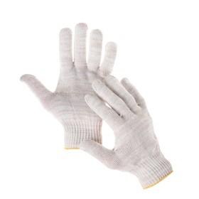 Перчатки, х/б, вязка 10 класс, 5 нитей, без покрытия, белые Ош