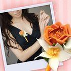 """Бутоньерка из фоамирана своими руками """"Оранжевая роза"""""""