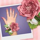 """Браслет из фоамирана своими руками """"Пудровая роза"""""""
