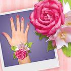 """Браслет из фоамирана своими руками """"Розовая роза"""""""