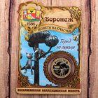 Монета «Воронеж», диам. 2,2 см