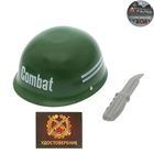 "A set of military ""hard hat and a knife"", 2 items"