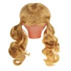 """Волосы для кукол """"Кудряши в хвостиках с челкой"""" размер большой , цвет Р70"""