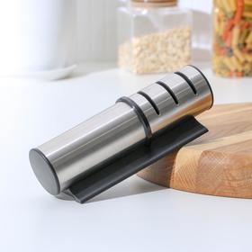 Точилка «Ракета», 18×5,5×5,5 см, для ножей с металлическим, керамическим лезвием и полировкой, цвет МИКС