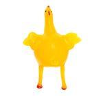 "Мялка с водой ""Курица"" с яйцом, цвет жёлтый"
