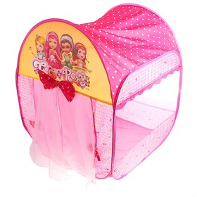 "Play tent ""House Princess"" with curtains and bows, the color pink"