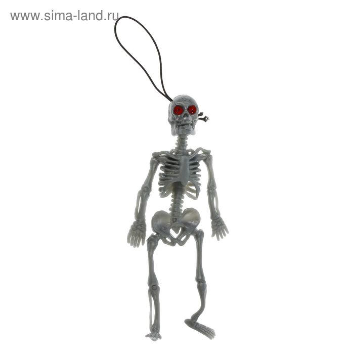 """Funny rubber """"Skeleton"""", color gray"""