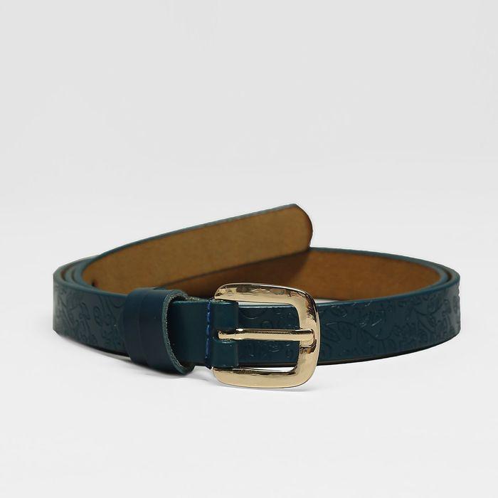 Ремень, пряжка золото, ширина - 1,8 см, цвет синий