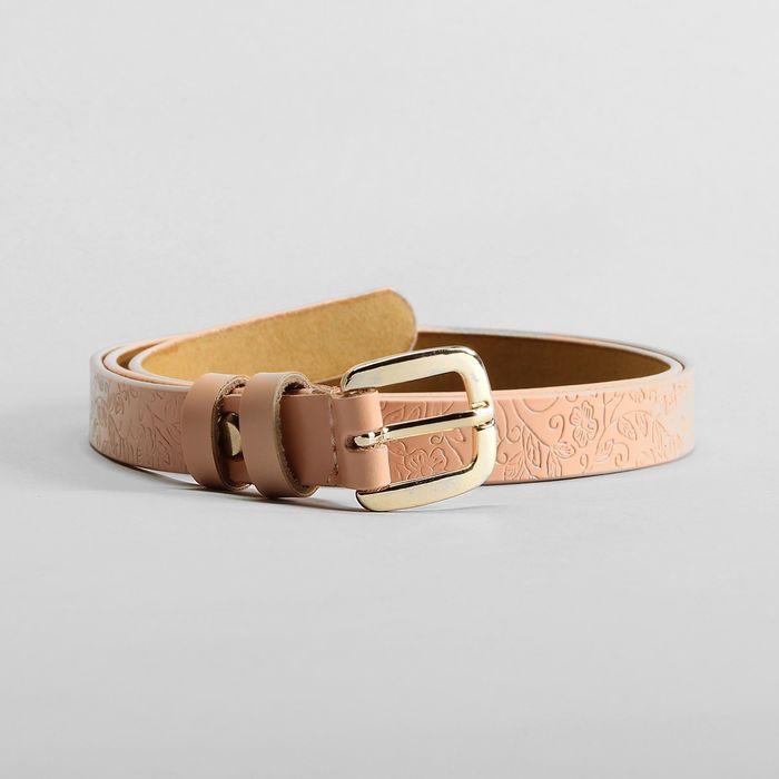 Ремень, пряжка золото, ширина - 1,8 см, цвет розовый