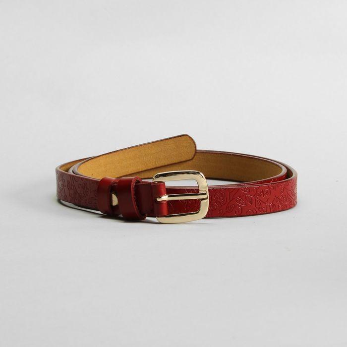Ремень, пряжка золото, ширина - 1,8 см, цвет красный