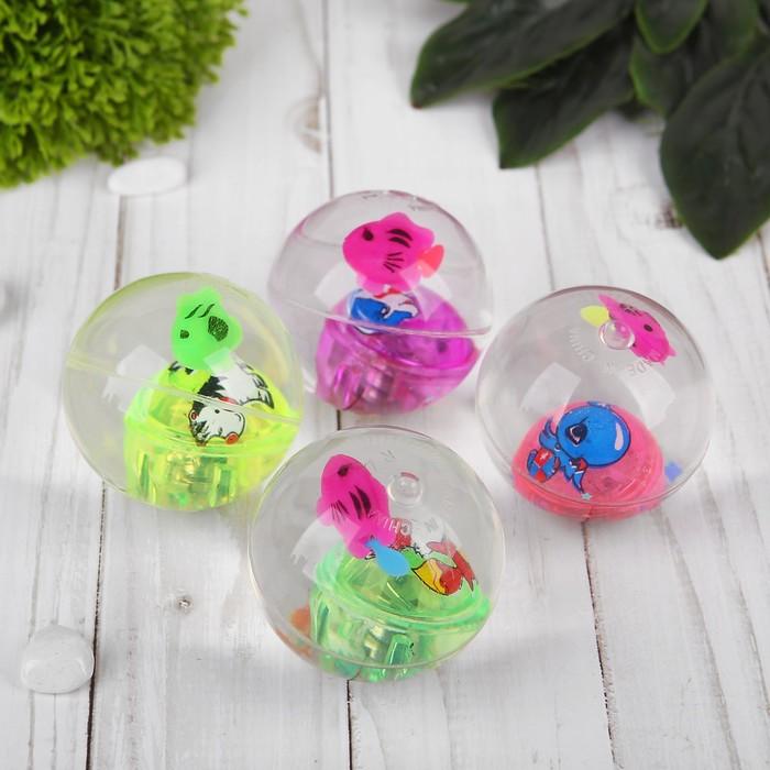 Мяч световой «Рыбка с звездами», с водой, 5,5 см, цвета МИКС