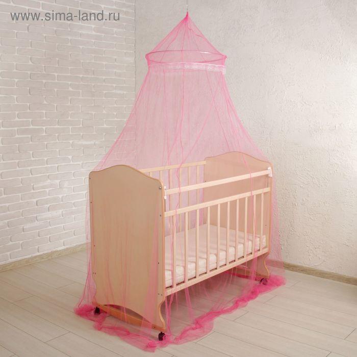 Балдахин на детскую кроватку, с декором, цвета МИКС