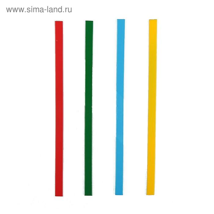 """Магнит пластик """"Палочки цветные"""" набор 4 шт 20х0,8 см"""