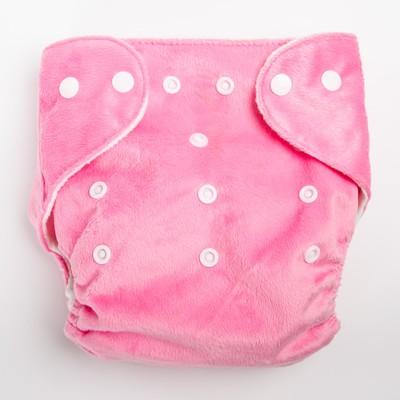 Многоразовый подгузник «Для малышек», на кнопках, цвета МИКС