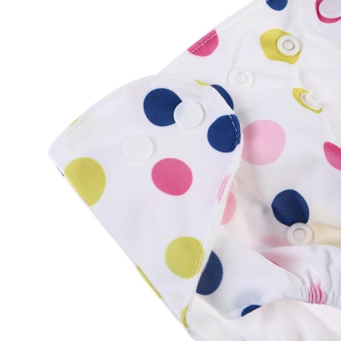 Многоразовый подгузник «Для малышек-2», на кнопках, цвета МИКС