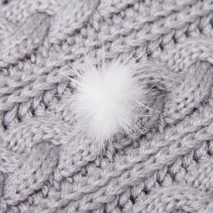 Помпон из натурального меха норки, размер 1 шт: 2,5 см, цвет белый