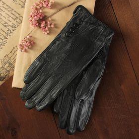 Перчатки женские, размер 8, с подкладом, цвет чёрный Ош