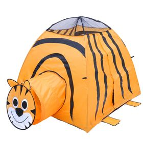 """Play tent """"Tiger"""" with the tunnel, the color orange"""