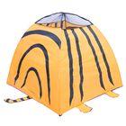 Игровая палатка «Тигр» с туннелем, цвет оранжевый - фото 106523336