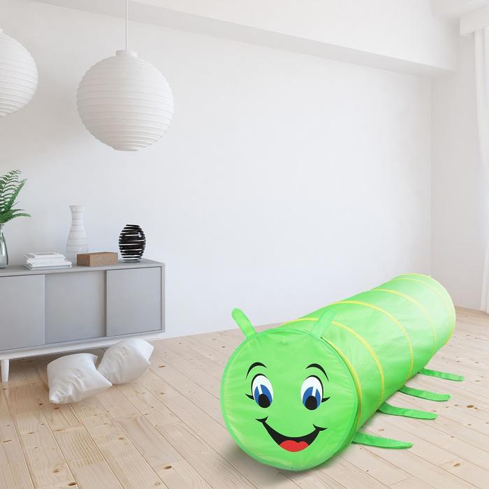 Детский туннель «Гусеничка», цвет зелёный