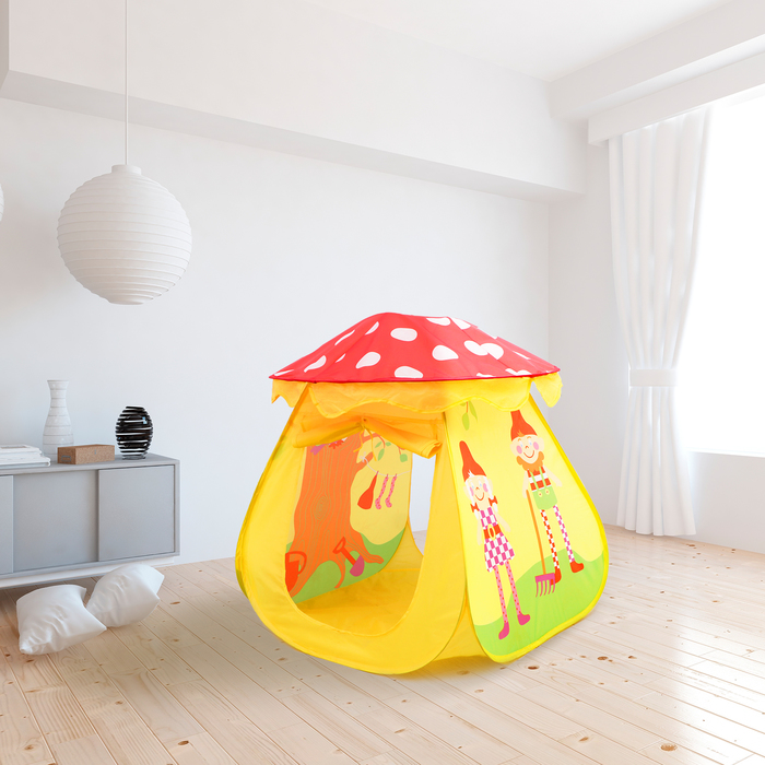 "Play tent ""Fairy house"", the color red-yellow"
